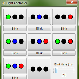 The simple UI for controlling the lights.